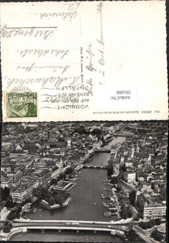 Zürich Teilansicht Quaibrücke Brücke m. Blick auf die Limmat