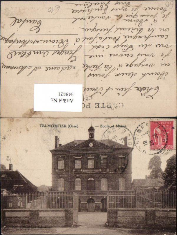 Picardie Oise Talmontier Ecole et Mairie Rathaus