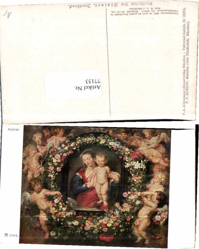 77153;Rubens Engel am Bild Maria