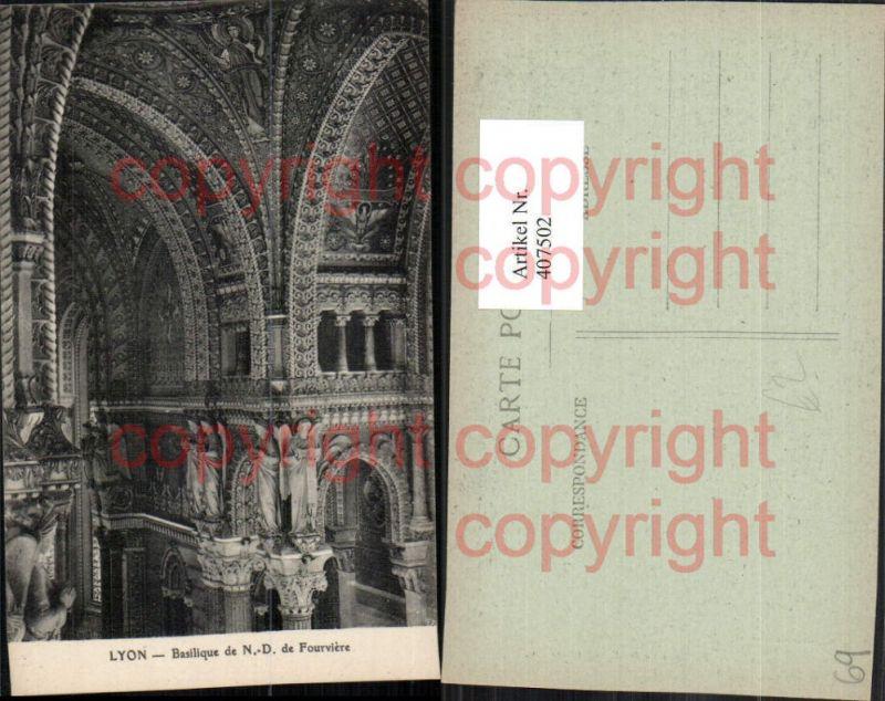 Rhone-Alpes Rhone Lyon Basilique de Notre-Dame Fourviere Kirche Interieur