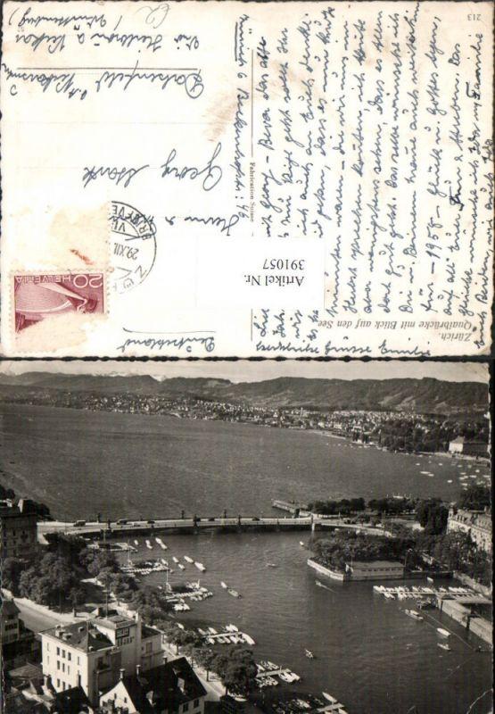 Zürich Quaibrücke Brücke Alkoholfreie Bar m. Blick auf den See