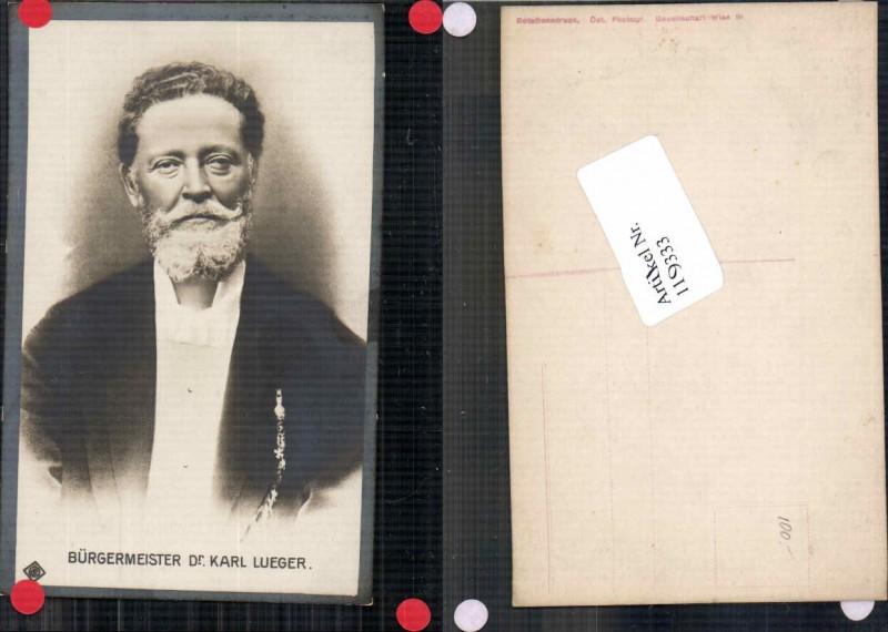 Dr. Karl Lueger Bürgermeister von Wien Portrait