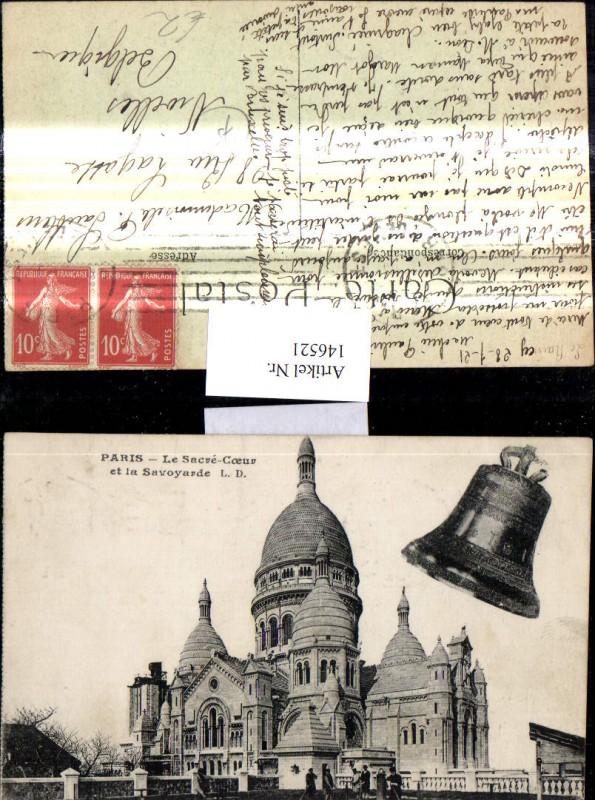 Fotomontage Paris Le Sacre Coeur et la Savoyarde Glocke Kirche