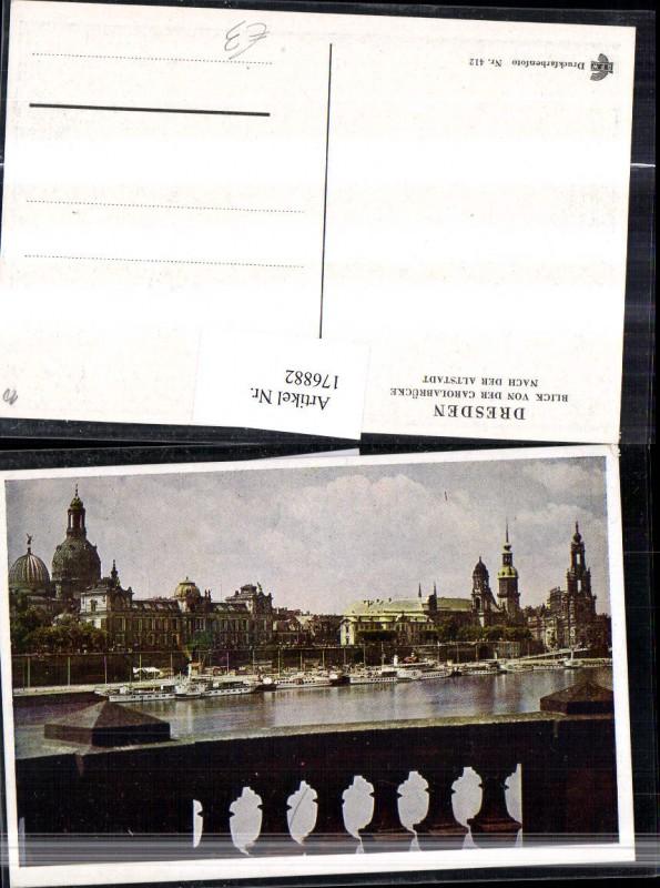 Dresden Ortsansicht Blick v. .d. Carolabrücke n. d. Altstadt Dampfschiffe