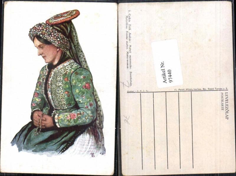 97440;Csikos Toth Andras Ungarische Tracht Ungarn Trach