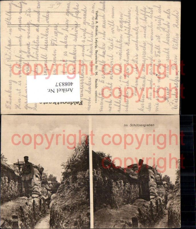 Mehrbild Ak WW1 Soldaten i. Schützengraben Soldatenleben