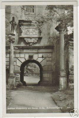 133;Schloss Rosenburg am Kamp ,Schlosseingang *1930