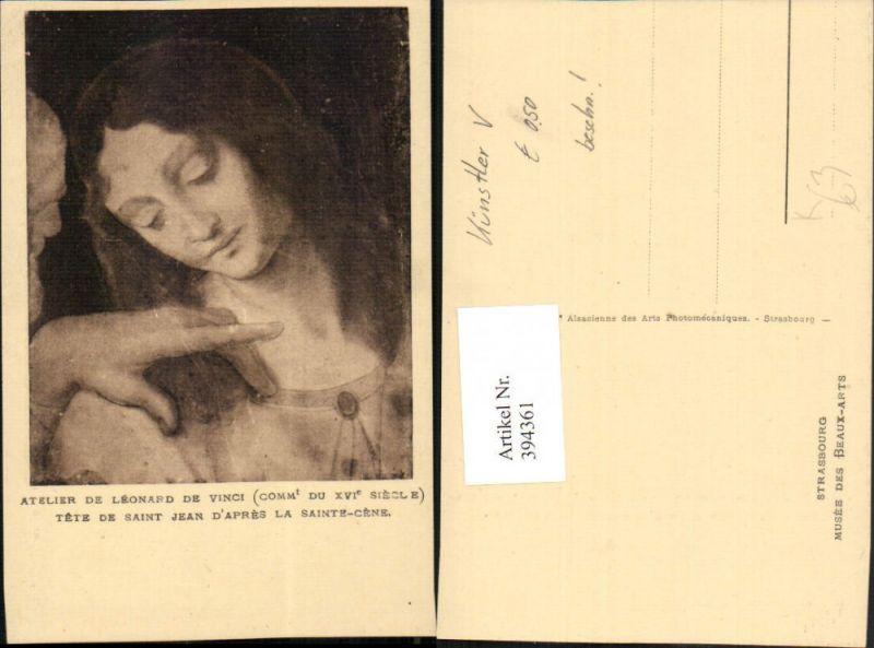 Künstler AK Leonardo da Vinci Saint Jean Apres la Sainte-Cene Portrait