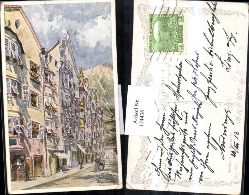 Innsbruck Künstler AK E.F. Hofecker Ortsansicht