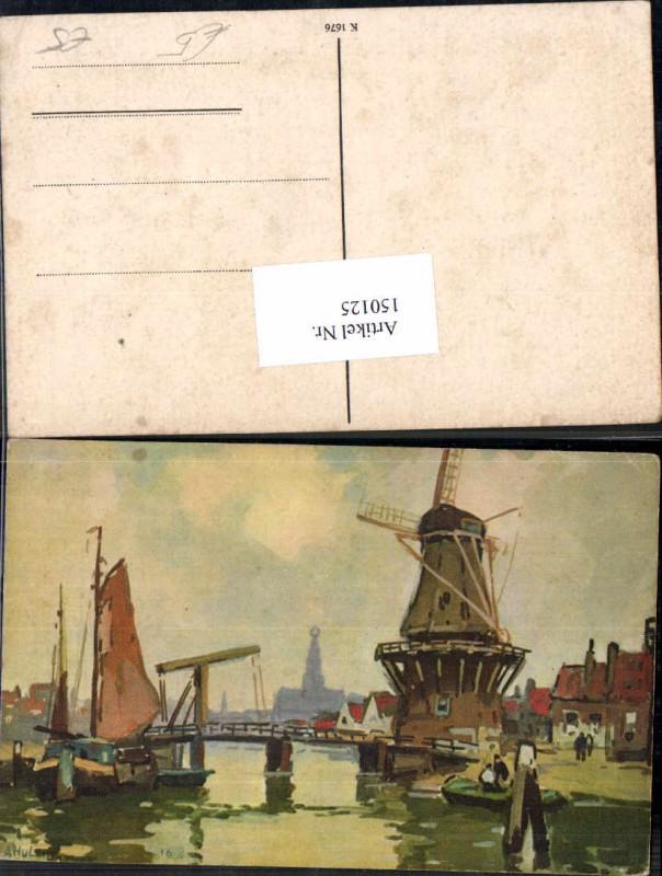 Windmühle Windrad Mühle Ufer Hafen