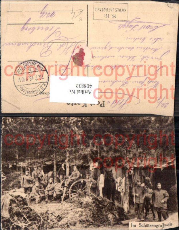 WW1 Im Schützengraben Soldaten Soldatenleben