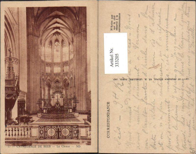Basse-Normandie Orne Cathedrale de Sees Le Choeur Kirche Innenansicht