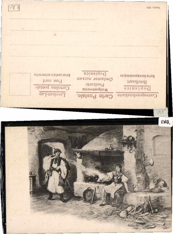 62711;Ungarische Bauern Trachten Bauernstube