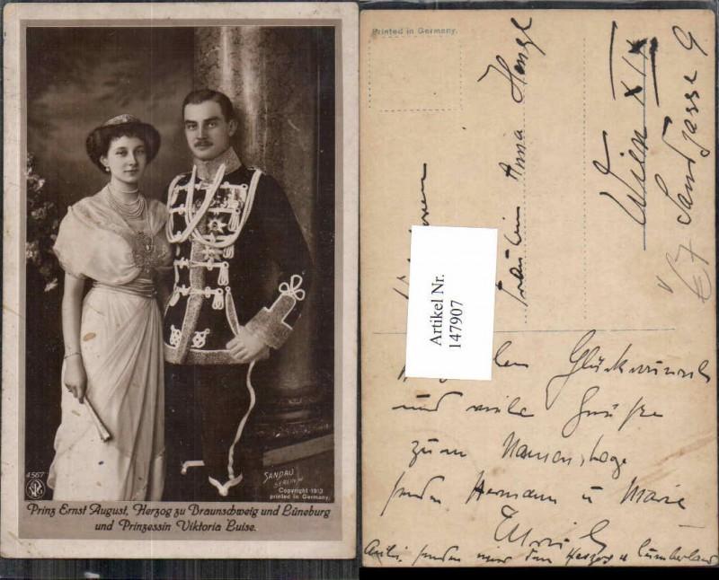 Prinz August Herzog zu Braunschweig Lüneburg Prinzessin Viktoria Luise