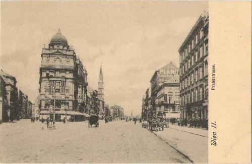 24085;Wien Praterstrasse Strassenpartie 1905