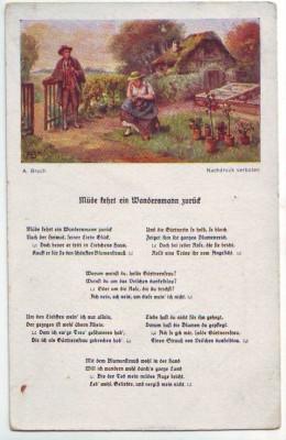 30516;A. Broch Liedkarte Heideröslein Goethe