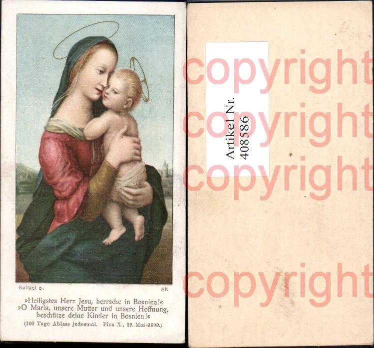 Andachtsbild Heiligenbildchen Raffael Maria Jesuskind Heiligenschein
