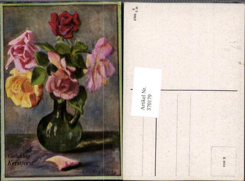 k nstler ak gl ckwunsch rosenstrau rosen vase nr 324298. Black Bedroom Furniture Sets. Home Design Ideas