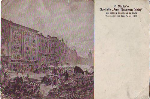 14303;Apotheke Z. Schwarzen Adler in Wels Stadtplatz 16
