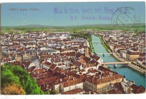 8386;Graz gegen Süden COLOR 1915