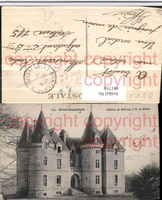 Bretagne Cote-Amor Henon-Moncontour Chateau Bellevue Schloss Nr ...