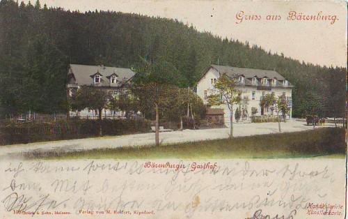 12933;Gruss aus Bärenburg Kipsdorf Gasthaus 1918