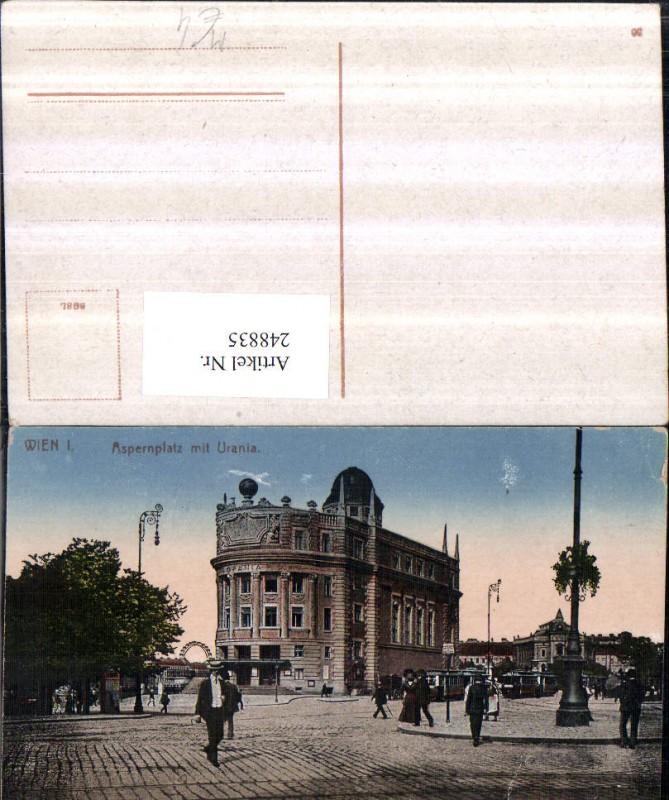Wien 1 Aspernplatz m. Urania Gebäude Straßenansicht Straßenbahn