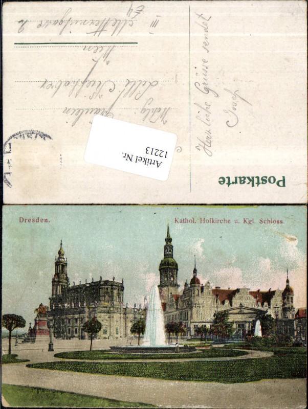 Dresden Kath Hofkirche Kirche un Königl. Schloss