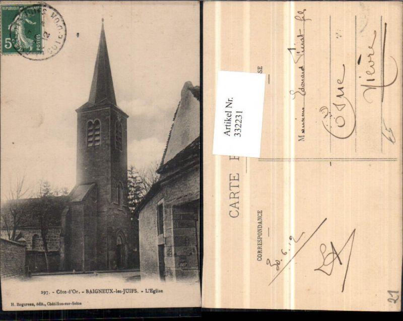 Burgund Cote-Or Baigneux-les-Juifs L'Eglise Kirche