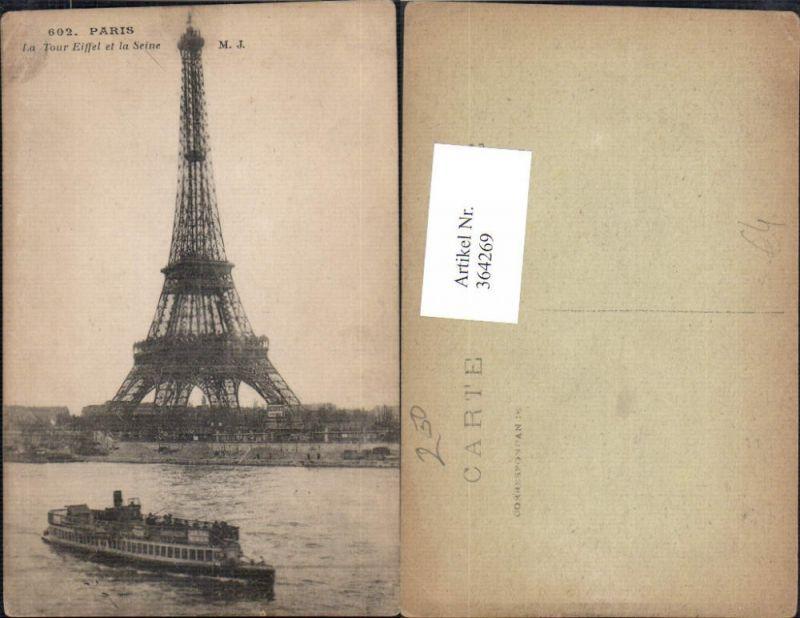 Turm Paris La Tour Eiffel et la Seine Eiffelturm Schiff