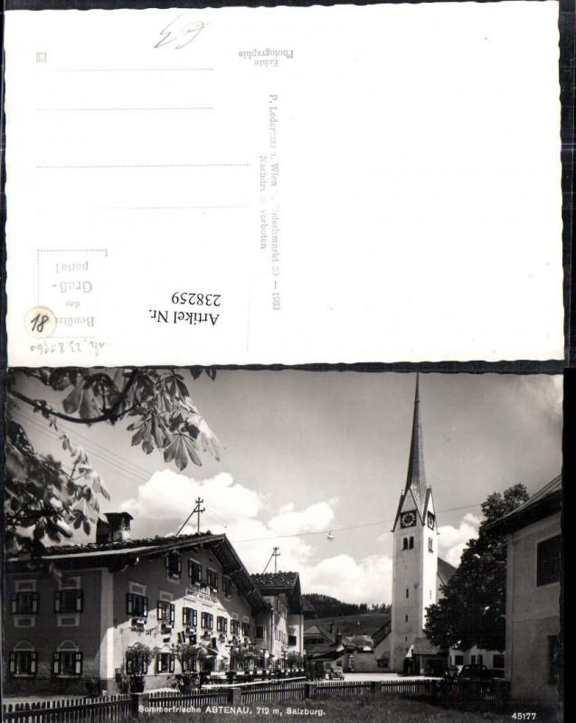 Abtenau Marktplatz Gasthof zum roten Ochsen Kirche