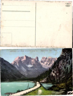 35033;Dürrensee Monte Cristallo Schluderbach Südtirol 1