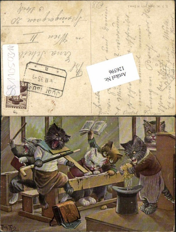 Arthur Thiele vermenschlichte Katzen personifizierte Katzenkinder Theo St