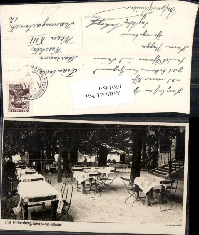 Hohenberg a. d. Traisen Gasthaus zur Post Gastgarten seltene Fotokarte