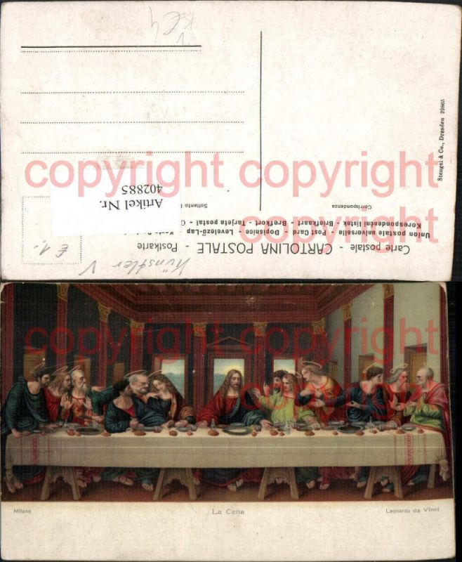 Stengel Co 29865 Künstler Leonardo da Vinci La Cena Das letzte Abendmahl