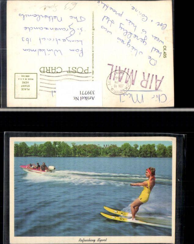 Sport Wassersport Wasserski Boot