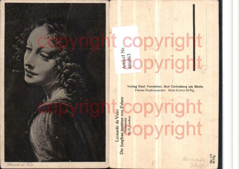 Künstler AK Leonardo da Vinci Jungfrau inmitten von Felsen Portrait