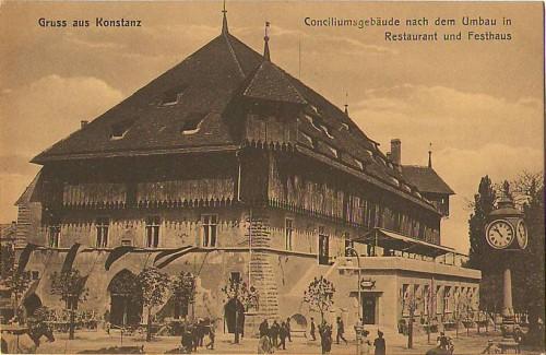26098;Gruss aus Konstanz Conciliumsgebäude Restaurant