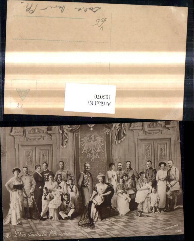 Adel Monarchie Das Deutsche Kaiserhaus Gruppenbild Wilhelm II pub NPG 538