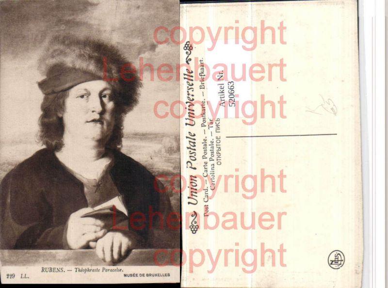 Künstler AK Rubens Theophraste Paracelse Mann Portrait