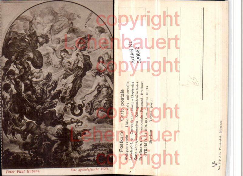 Künstler AK Peter Paul Rubens Das apokalyptische Weib Engeln