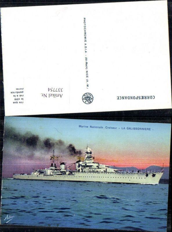 Schiff Kriegsschiff Marine Nationale Croiseur La Galissonniere