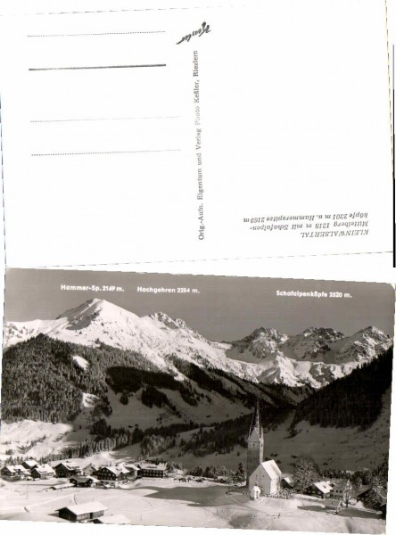 36809;Mittelberg Ortspartie im Winter