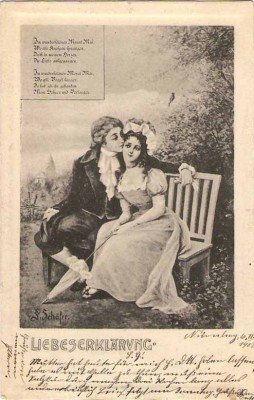 Präge Karte G. Schäfer Liebeserklärung 1900 F.M.K. 676