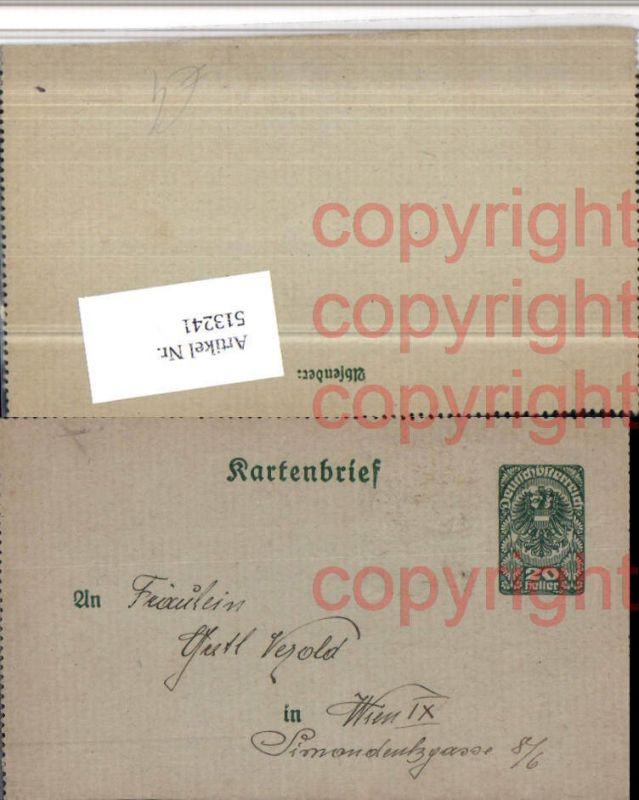 Ganzsache Kartenbrief nach Wien