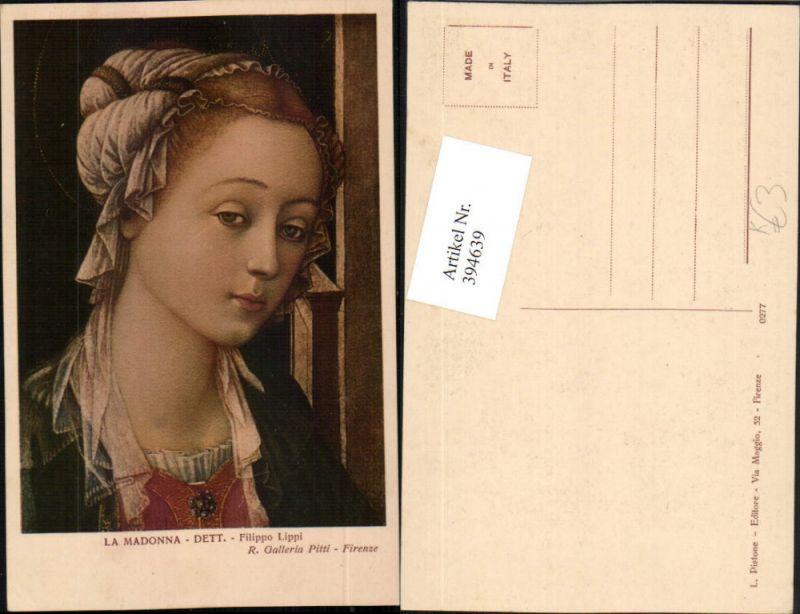 Künstler AK Filippo Lippi La Madonna Frau Portrait