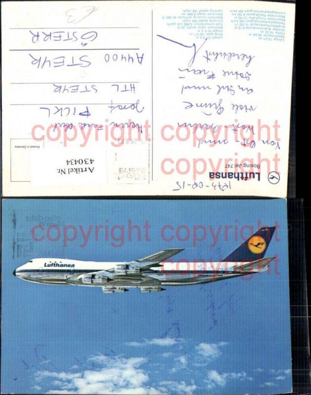 Lufthansa Boeing Jet 747 Flugzeuge Luftfahrt