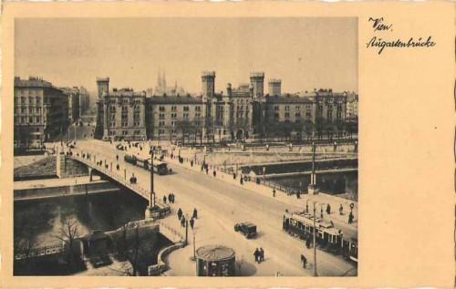24136;Wien Augartenbrücke um 1940