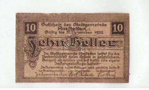 16868;Notgeld Amstetten 10 Heller