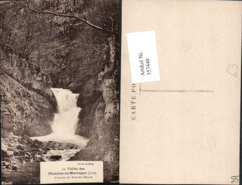 Franche-Comte Jura Planches-en-Montagne Cascade Bout-du-Monde Wasserfall